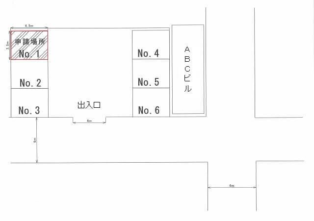車庫の配置図面